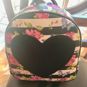 Betsey Johnson Medium Backpack Floral Butterflies